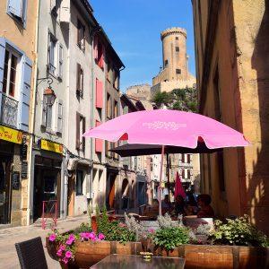Cafe & Castle at Foix
