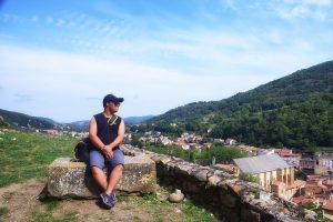 Enjoying the views at Foix