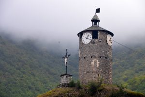 Clock tower at Tarascon