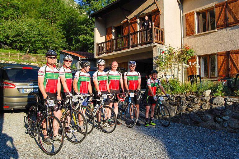 Road Cycling team at Base Calames